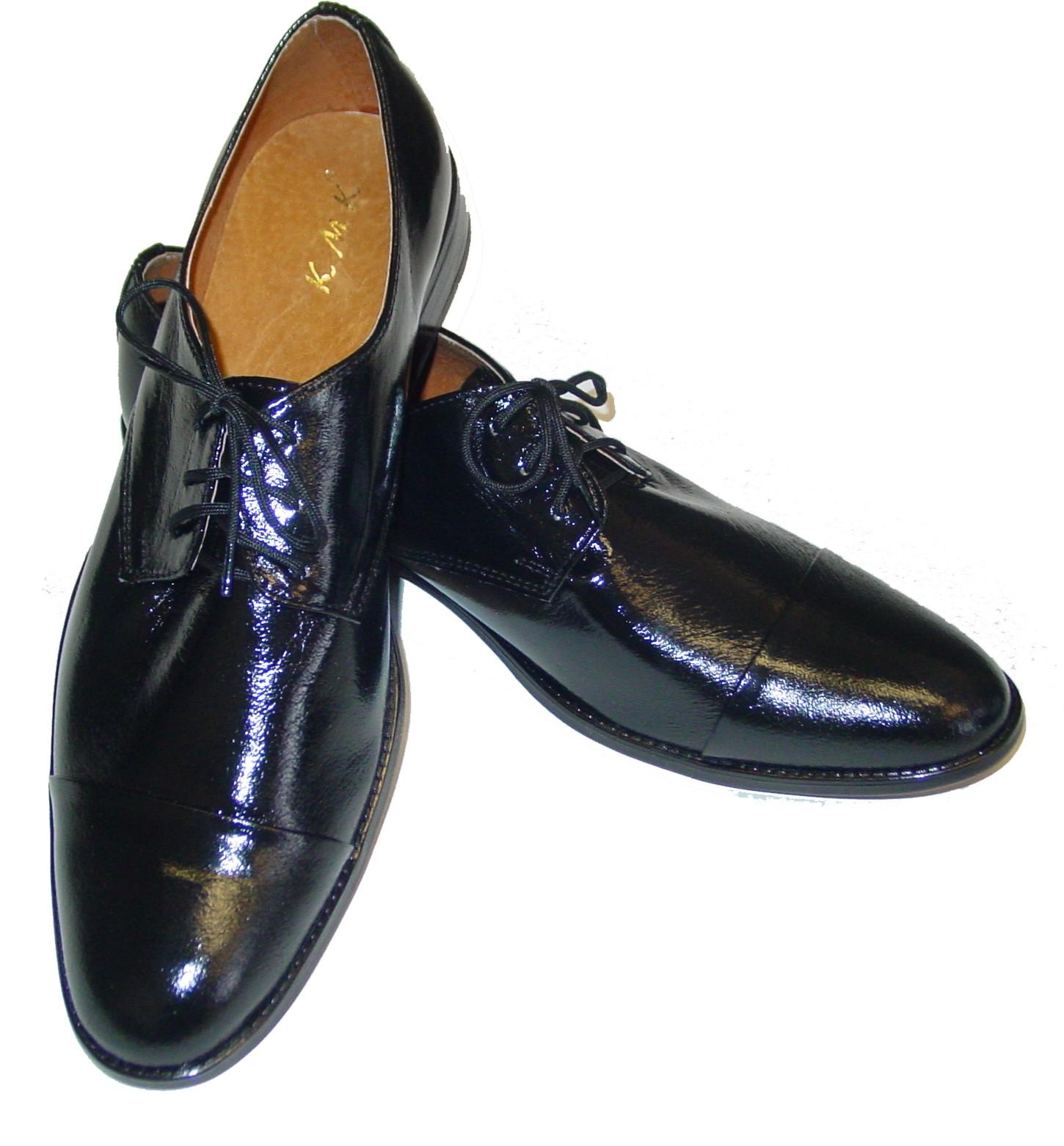 Chlapecké boty střevíce černé lesk. v.39-40  91dbbfee67