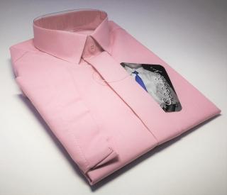 Chlapecká košile kr.ruk. sv.růžová v.110-122 f84a793921
