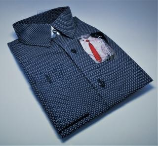 1083c0235dc Chlapecká košile s dlouhým rukávem modrá vzorovaná